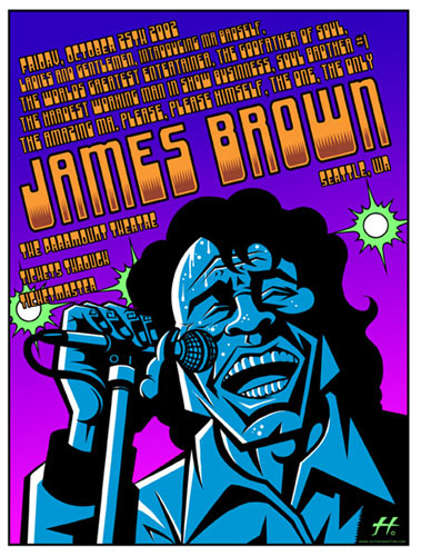 Justin Hampton James Brown Poster