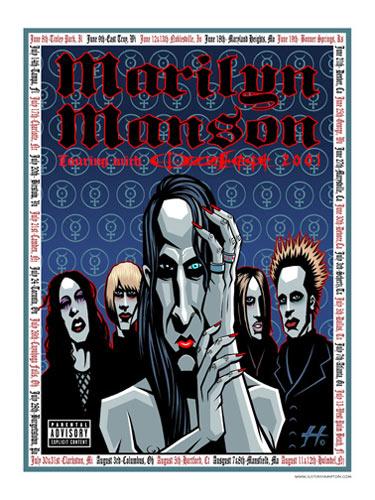 Justin Hampton Marilyn Manson Poster