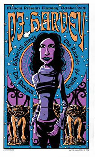 Justin Hampton PJ Harvey Poster