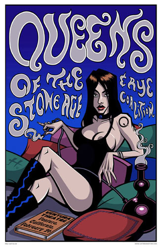 Justin Hampton Queens Of The Stone Age Poster
