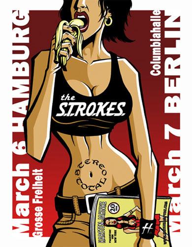 Justin Hampton The Strokes Poster
