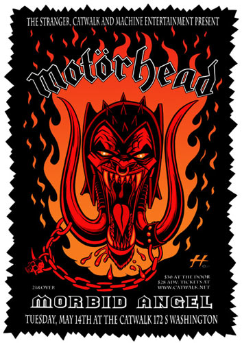 Justin Hampton Motorhead Poster