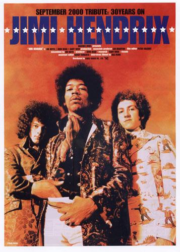Jimi Hendrix Movie Japanese Handbill