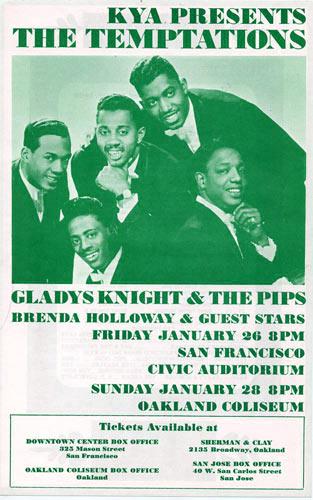 Rare 1968 Temptations - Gladys Knight Handbill