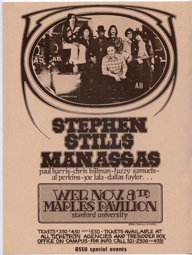 Randy Tuten Stephen Stills Handbill