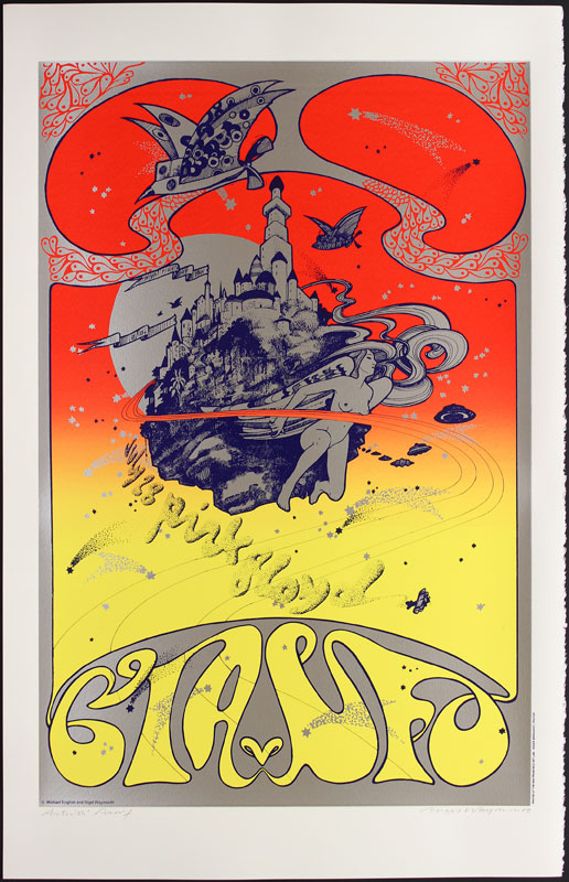 Hapshash and the Coloured Coat Pink Floyd CIA vs. UFO Poster