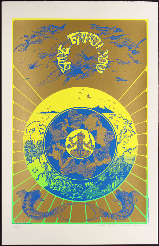 Hapshash and the Coloured Coat Save Earth Now Poster