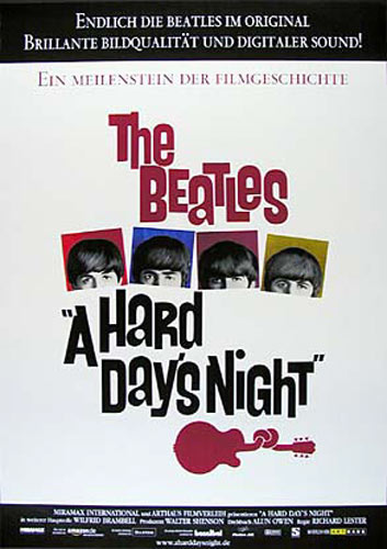 Beatles Hard Day's Night German Movie Poster