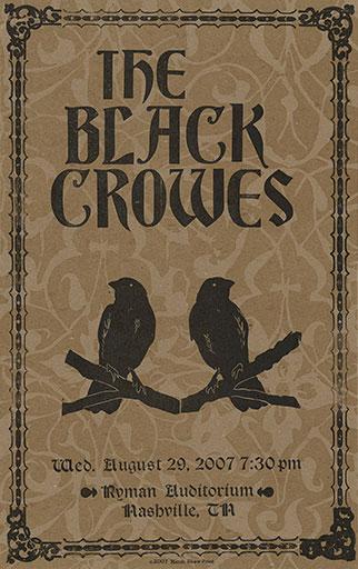Hatch Show Print Black Crowes Poster
