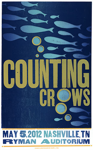 Hatch Show Print Counting Crows Poster
