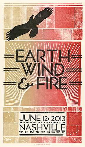 Hatch Show Print Earth Wind and Fire Poster