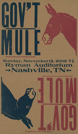 Hatch Show Print Gov't Mule Poster