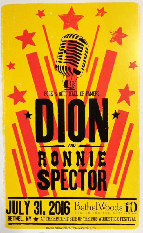 Hatch Show Print Dion with Ronnie Spector Poster
