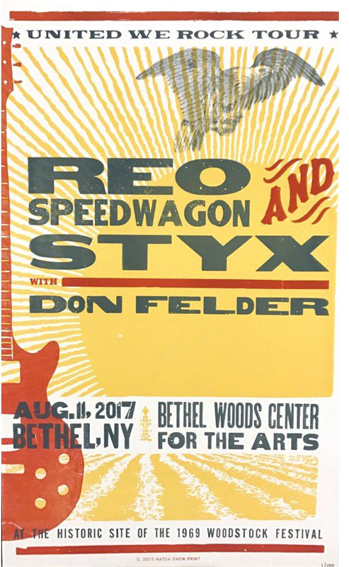 Hatch Show Print REO Speedwagon with Styx Poster