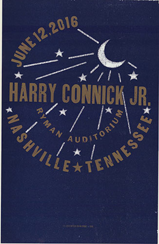 Hatch Show Print Harry Connick Jr. Poster