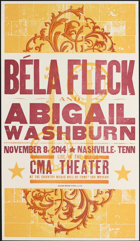 Hatch Show Print Bela Fleck at CMA Theater Poster