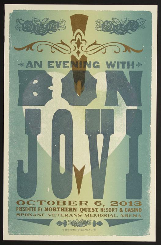 Hatch Show Print Bon Jovi Poster