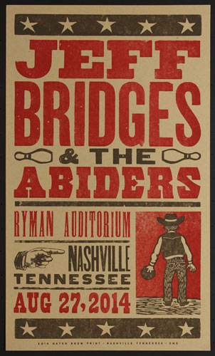 Hatch Show Print Jeff Bridges and the Abiders Poster