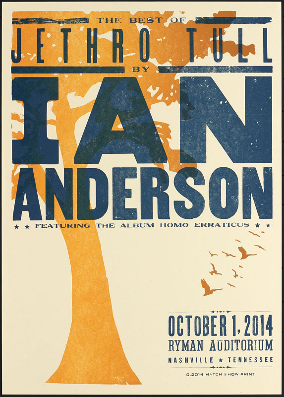 Hatch Show Print Ian Anderson - The Best of Jethro Tull Poster