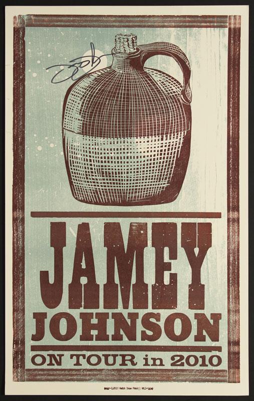 Hatch Show Print Jamey Johnson 2010 Tour Autographed Poster