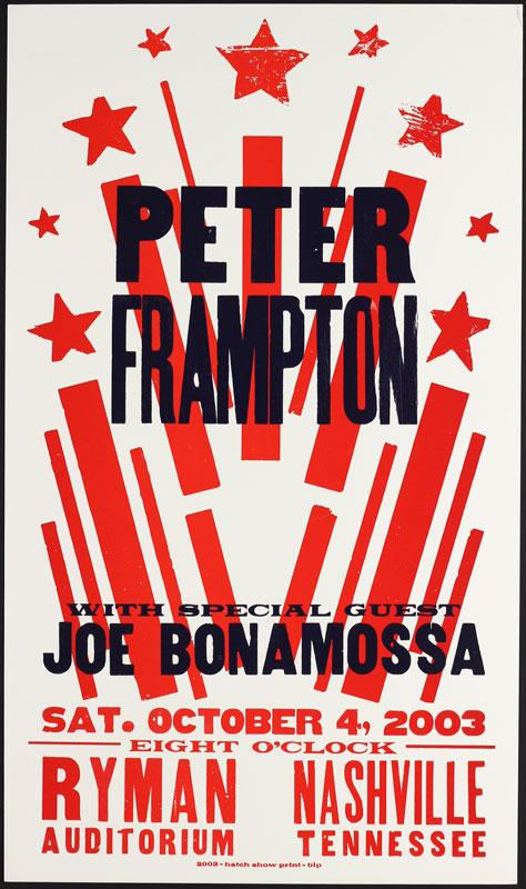 Hatch Show Print Peter Frampton at Ryman Auditorium Poster