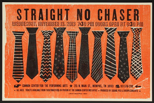 Hatch Show Print Straight No Chaser 2013 Poster