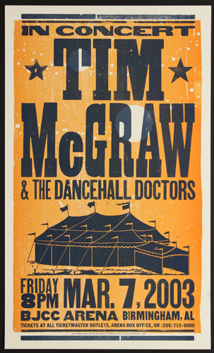 Hatch Show Print Tim McGraw and the Dancehall Doctors Poster