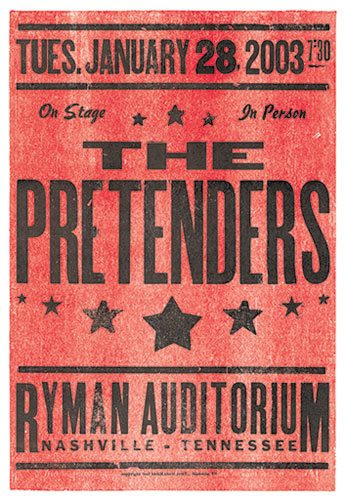 Hatch Show Print The Pretenders Poster