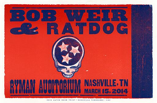 Hatch Show Print Bob Weir and RatDog Poster