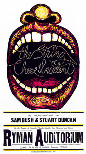 Hatch Show Print String Cheese Incident Poster
