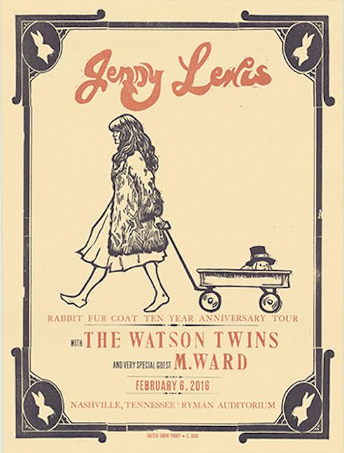 Hatch Show Print Jenny Lewis Poster
