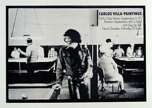 Carlos Villa Exhibition Poster By Robert Fried! Poster