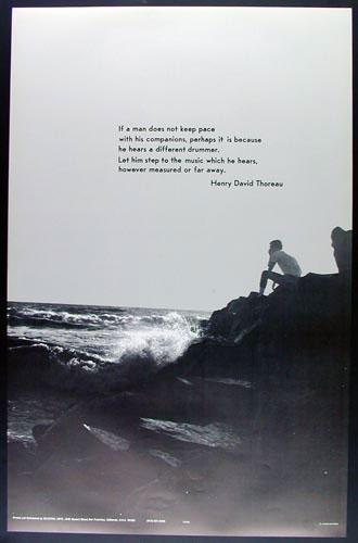 Thoreau Different Drummer Poster