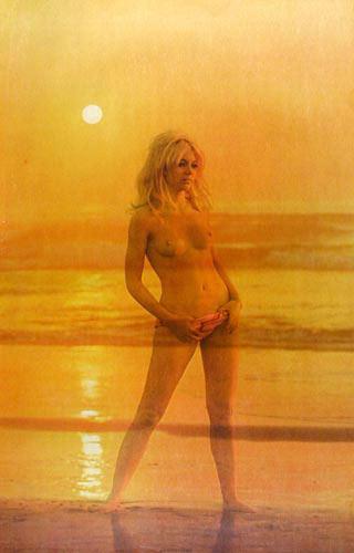 Glamorous Sandy Topless Poster