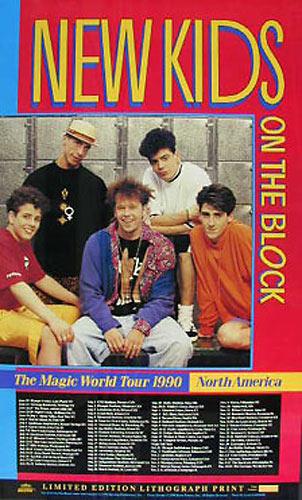 New Kids on the Block 1990 Magic World Tour Poster