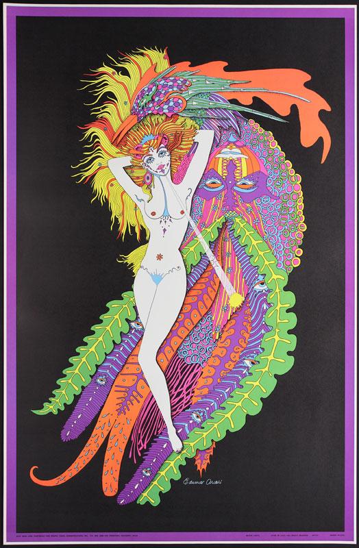 Dear Leda - Super Colorful Blacklight  Poster