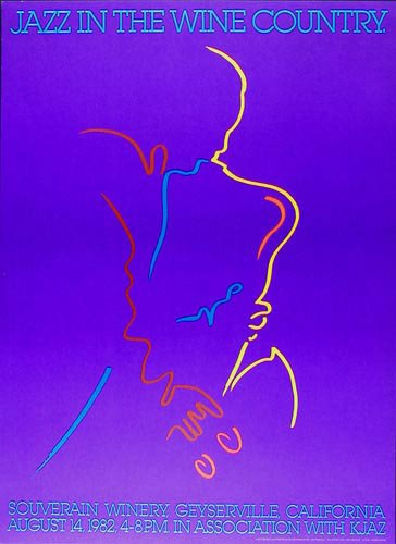 1982 Jazz In The Wine Country Poster