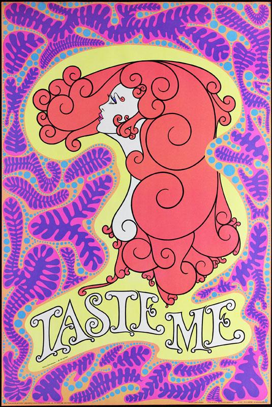 Taste Me - Classic Blacklight  Poster