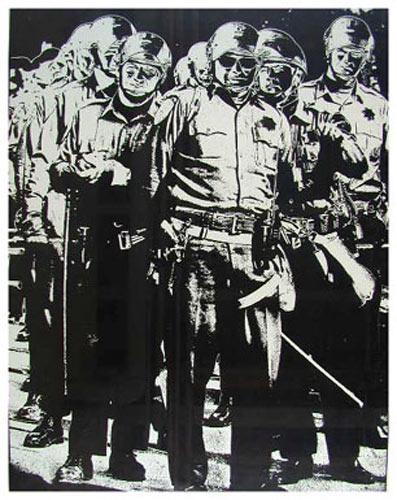 Cops At 1968 Democratic Convention Chicago Seven Poster