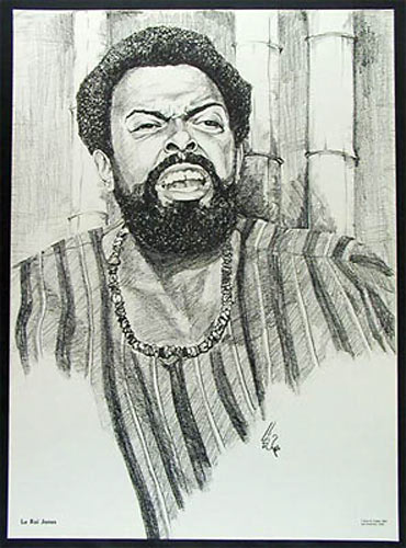 Le Roi Jones (Amiri Baraka) Black Movement Leader Poster