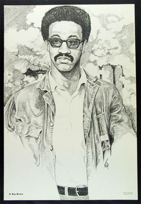 H. Rap Brown 1967 Black Panther Poster