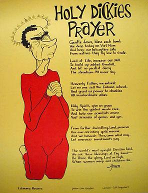 Holy Dickie's Prayer Anti-war Poster