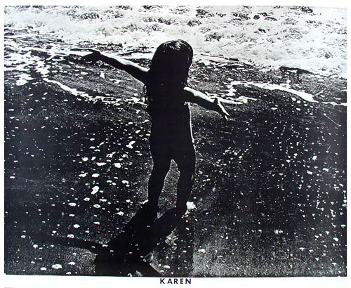 Karen - Young Girl In The Waves Photo Poster