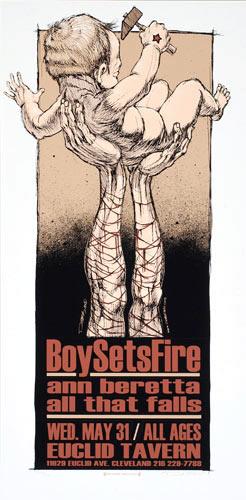 Derek Hess Boy Sets Fire Poster