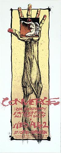 Derek Hess Converge Poster