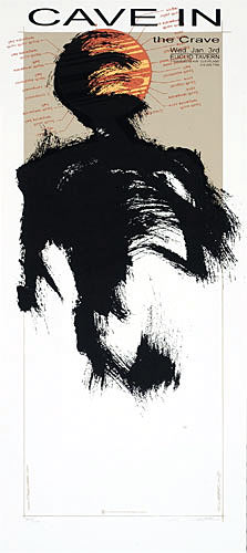 Derek Hess Cave In Poster