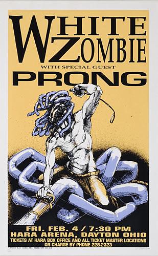 Derek Hess White Zombie Poster