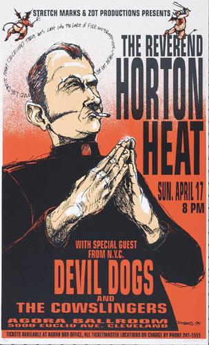 Derek Hess Reverend Horton Heat Poster