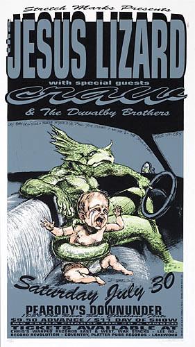 Derek Hess The Jesus Lizard Poster