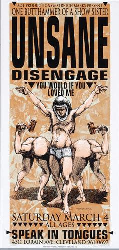 Derek Hess Unsane Poster